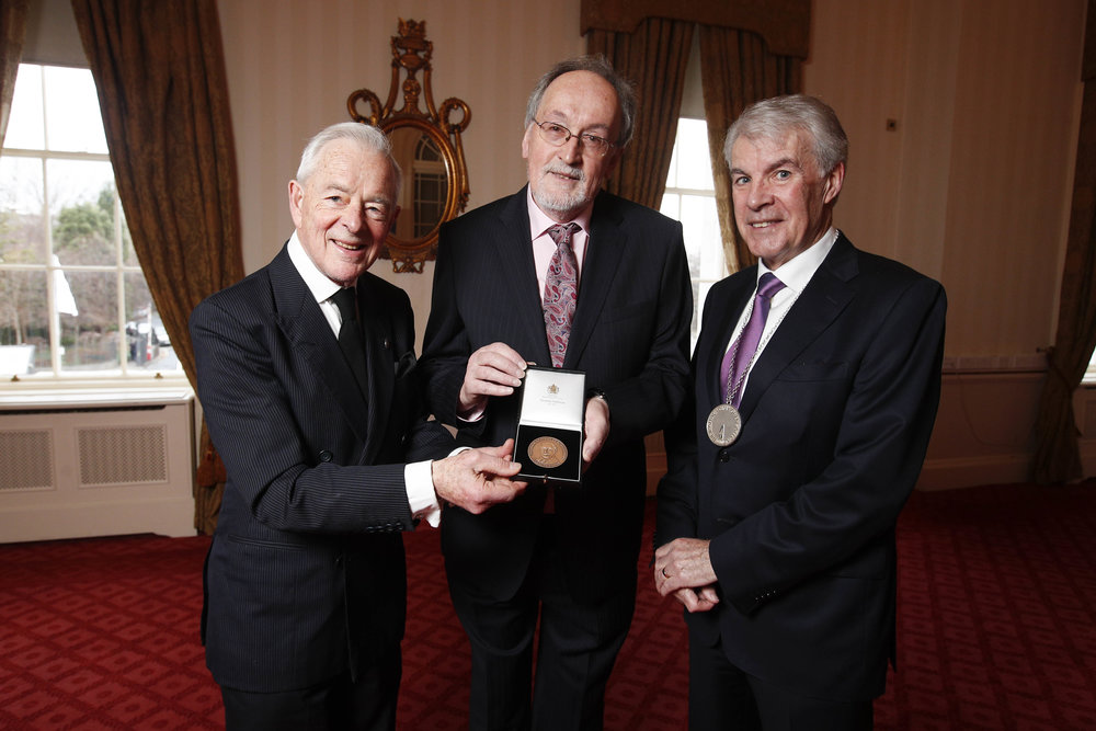 Brendan Parsons, 7th Earl of Rosse, Professor Tony Fagan, University College Dublin, Eoin O'Driscoll, President of The Irish Academy of Engineering. Photograph by Conor McCabe Photography Ltd.