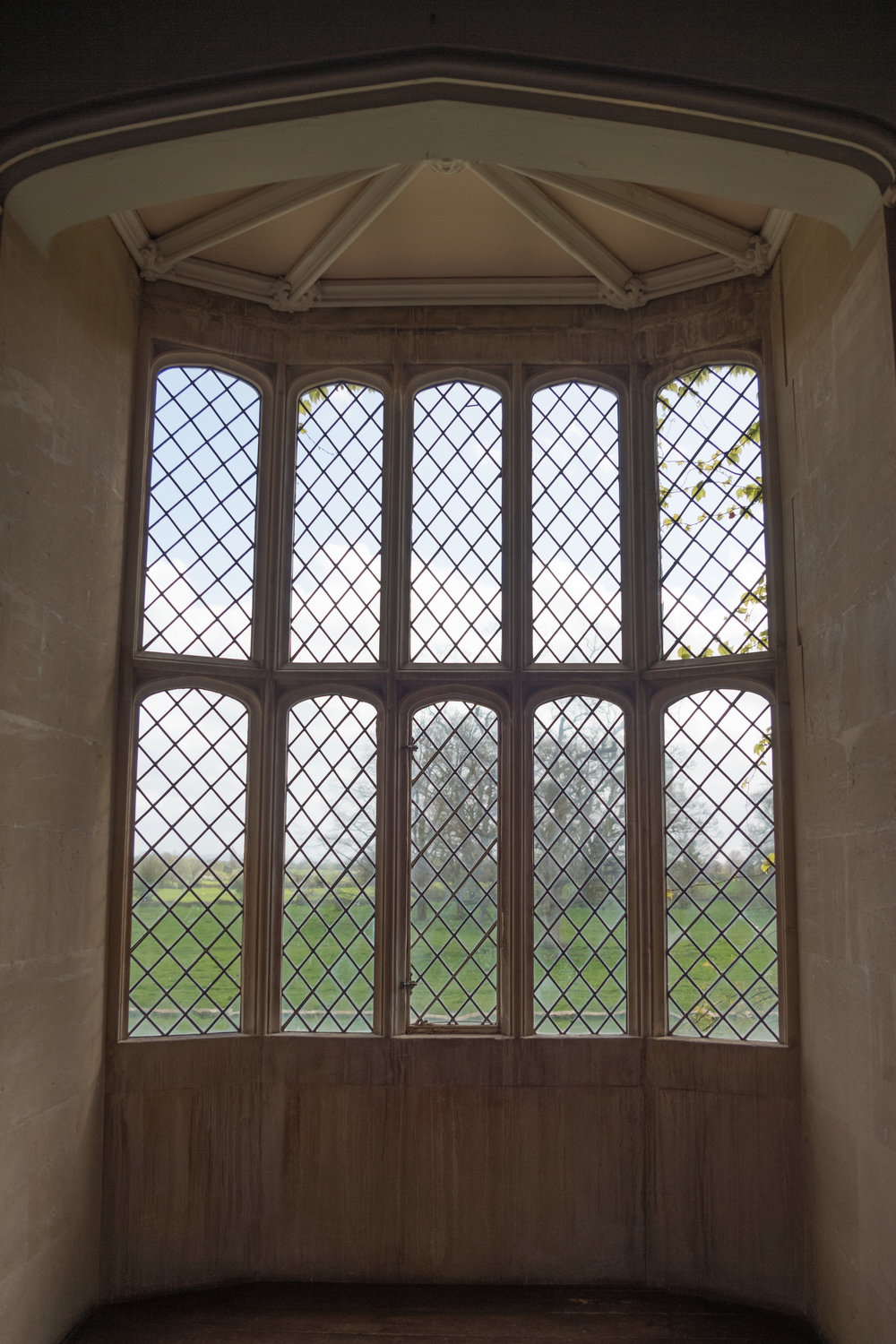 The original lattice window, as seen by Fox Talbot's box camera, doesn't benefit much from colour, but the outside view is quite stunning