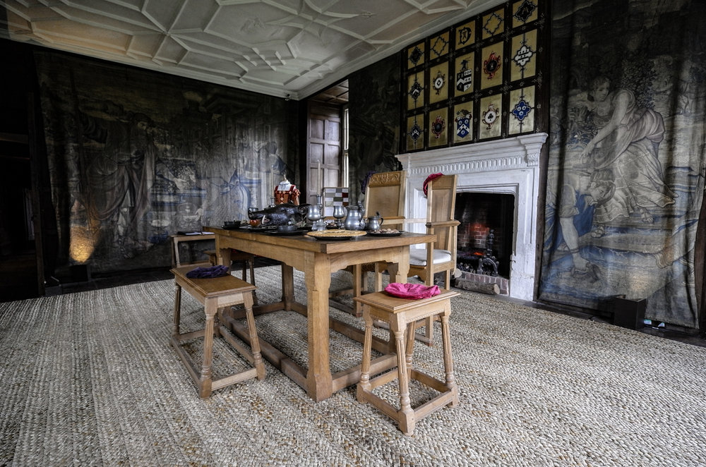 The Tudor dining room at Avebury Manor. 11mm is a useful focal length for grabbing the big indoor picture in constricted circumstances