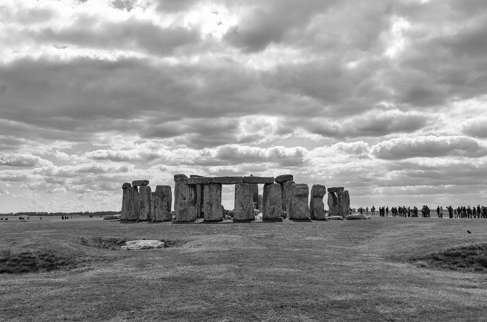 Stonehenge: 6000 years old and, thanks to English Heritage, 6000 steps to walk from their new carpark at the other end of Wiltshire, 23mm at f/3.5