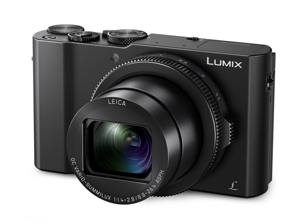 This Panasonic Lumix LX15 (or LX10 in some markets) has a fast Leica DC Vario Summilux with a widest aperture of f/1.4, and a medium-reach zoom of 24-72mm. But lacks the convenience of a viewfinder. It is DPReview's choice as the best all-round travel camera