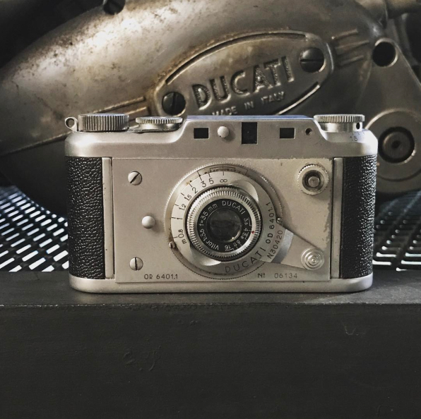 The Ducati Sogno rangefinder, photo courtesy of JapanCameraHunter on Instagram