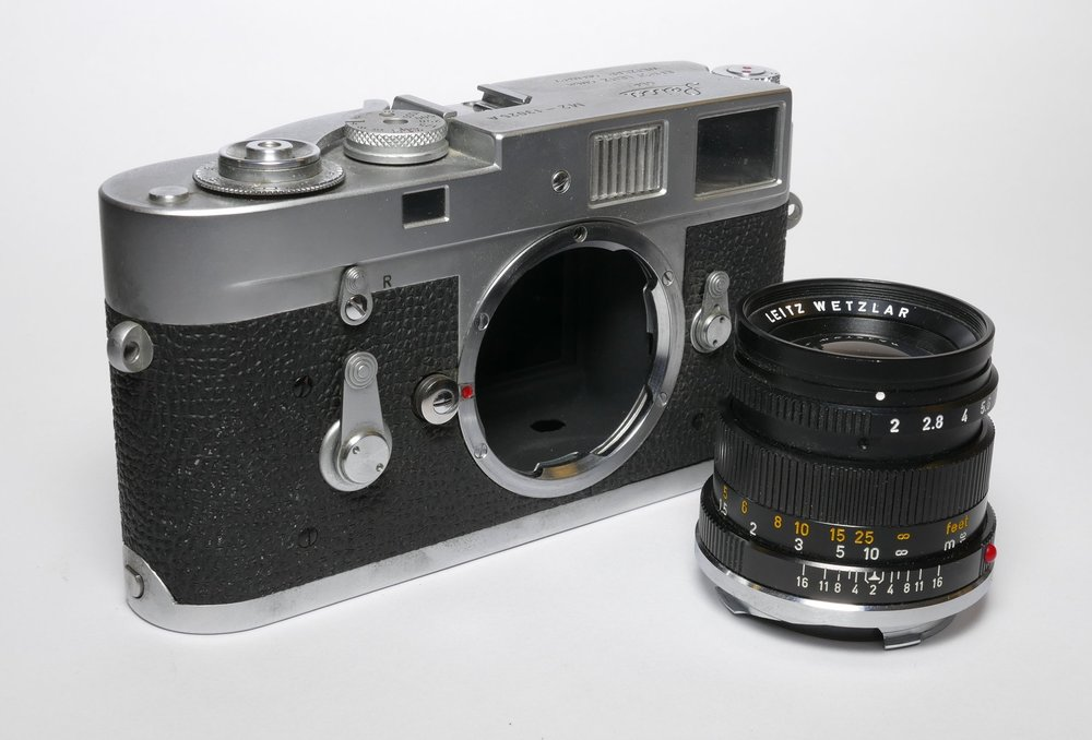 Leica M2 Attrape dummy camera and 50mm Summicron. Looks good but.....