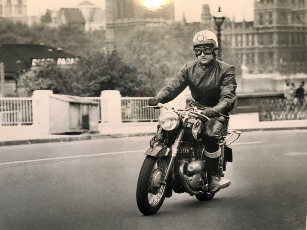 Above: Mike Evans riding a 248cc Puch SGS road-test bike for a photo shoot in November 1965. Don thinks this image was probably taken by Iliffe staff photographer David Nash, almost certainly using a TLR Mamiyaflex rather than one of the VN press cameras mentioned in this article. Mike remembers the Harro leathers were also on test — borrowed from Ernst Harr in the Schwartzwald during a personal visit to the factory earlier that year. Below: Mike's road test of the Puch 248cc in The Motor Cycle, a little yellow around the edges after all these years. It is but a short step from technical journalism to technical blogging. Incidentally, the bike cost £229 and £4 a year in road tax. Those were the days....