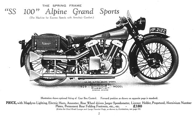 The 1929 SS100 Alpine Grand Sports. It cost £180, equivalent to £11,000 in today's money