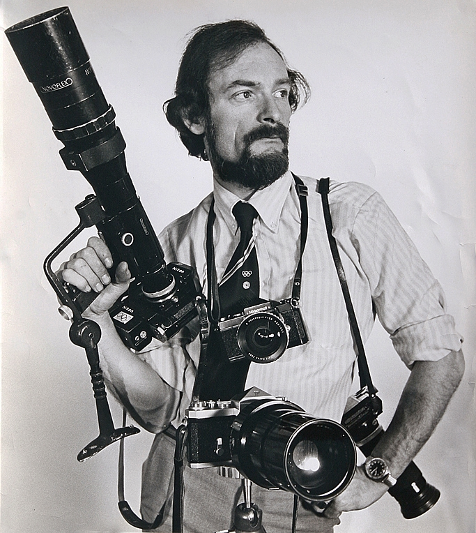 Don Morley in his heyday as a renowned photo journalist. Brough Superiors were his sideline....