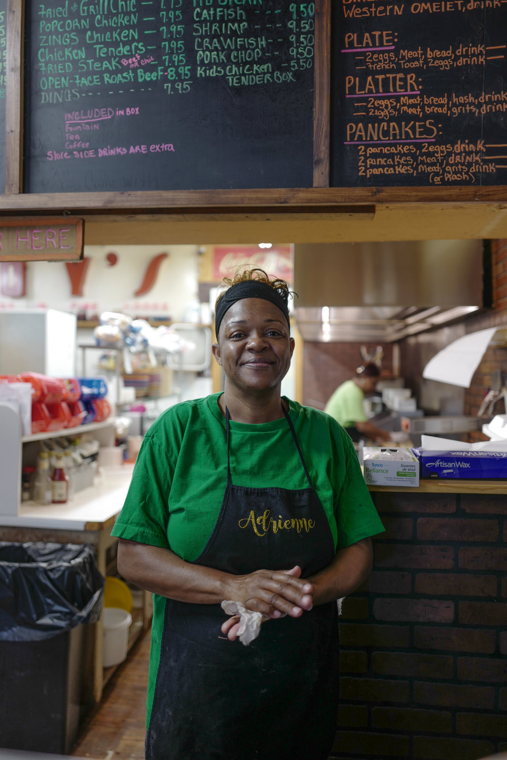 Adrienne, cook at Roy's Store, Charleston, Mississippi. Roy's is one of the last remaining country stores in Mississippi and has been in business for over 100 years.