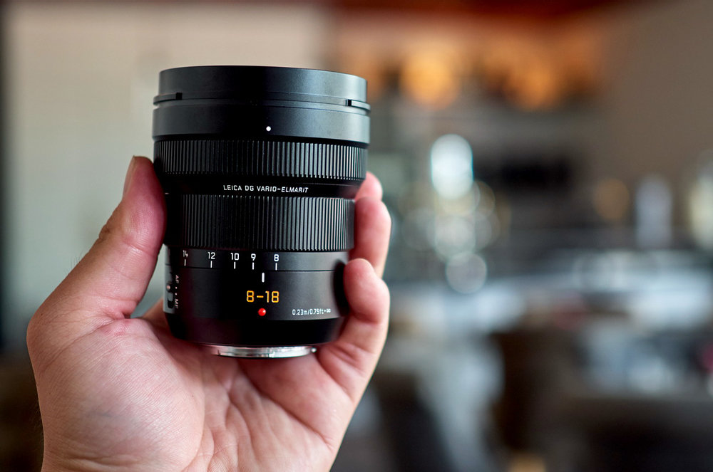 The Leica DG 8-18mm is compact and light for a wide-angle zoom, no bigger than its 12-60mm sibling or the Olympus 12-40mm f/2.8 Pro (Photo Robin Wong)