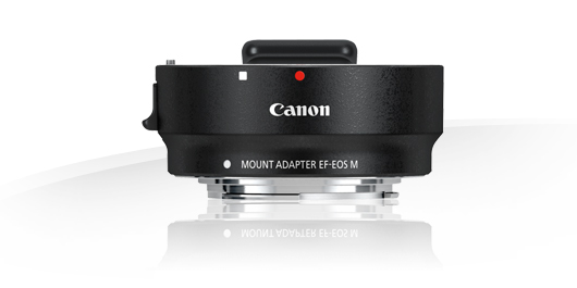 The EF-EOS M adapter allows all Canon EF and EF-S lenses to be mounted on the company's mirrorless cameras. It is a major draw for existing DSLR users