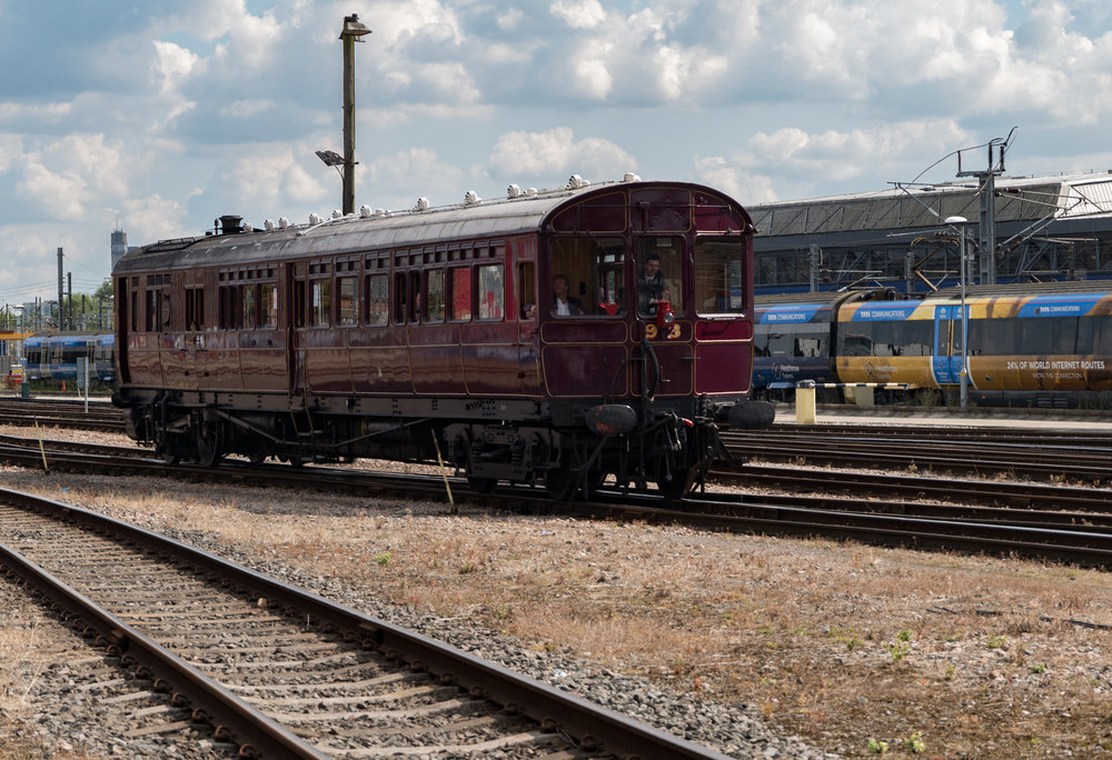 Free rides on this restored Steam Railmotor, constructed at the Didcot Railway Museum — another fascinating place to visit along the length of the Great Western Railway
