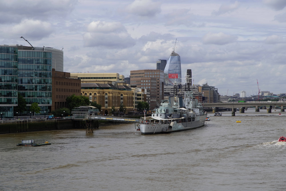 HMS Belfast on the South Bank. 18-56mm Vario-Elmar-TL at 56mm