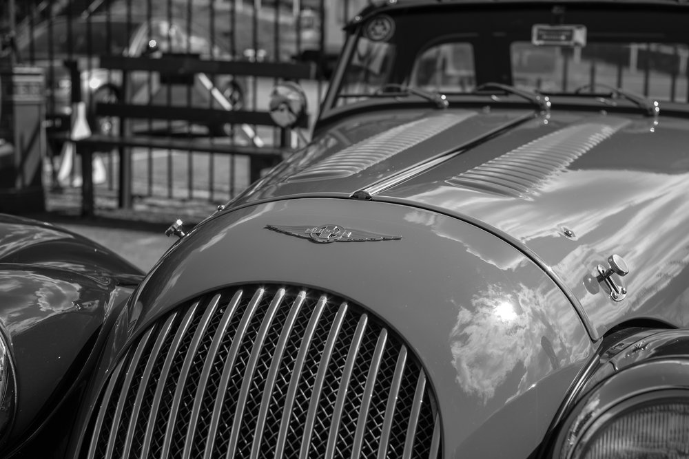 And now for something different: The Morgan, seen through the diminutive optic of the 35mm Leica Summicron-M, another example of the delights of manual focus when the TL2 is matched with Leica's vast range of M glass. This is another fine example of the out-of-camera jpegs produced by this camera