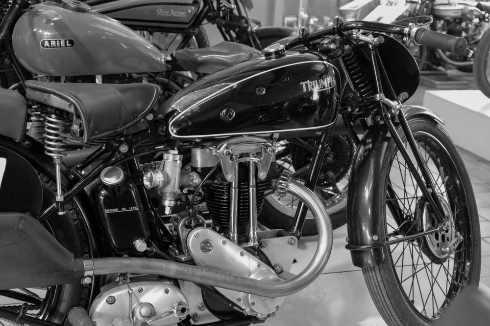 Pre-war racing Triumph captured by the 18-56mm at 12,500 ISO. The TL2 has a two-stop advantage over the TL which topped out at 12,500. Even 12,500 is now usable, unlike a 12.5k shot taken with the earlier model which was borderline at best