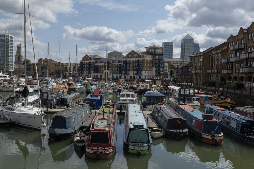 A panoramic view of Limehouse Basin from the 11-23mm APO-Vario-Elmar at 23mm