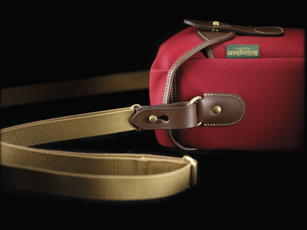 Billingham 72 Burgundy Chocolate - shoulder strap detail 1.jpg