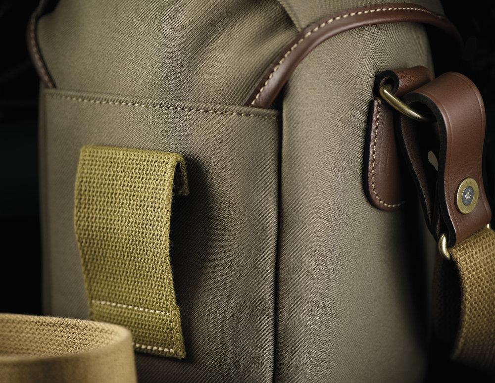 Billingham 72 Sage Chocolate belt loop detail.jpg