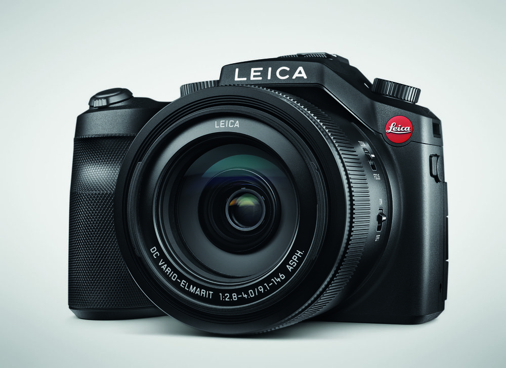 This is no mock-up — the Leica V-Lux, based on the Panasonic Lumix FZ1000 is a an important component of the Leica compact arsenal