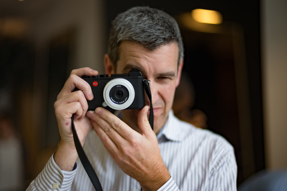 Fellow Leica Society member and BBC picture editor, Phil Coomes does the modelling with the new CL and 18mm Elmarit lens