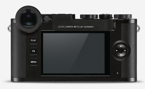 Leica's Thumb Support mounted on the CL. Note, however that the production version does not have the white infill text