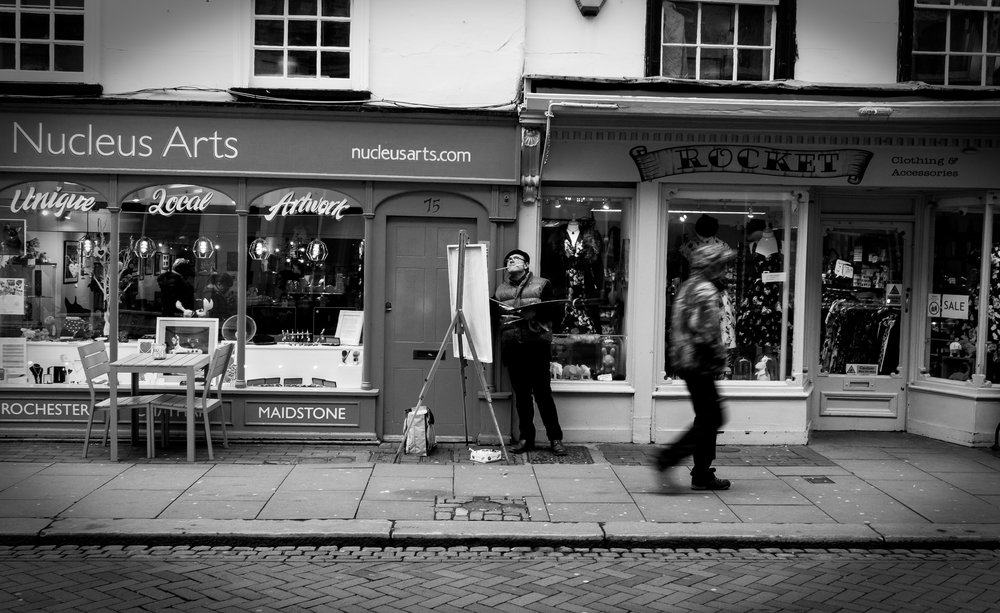 The painter — shot on Rochester High Street