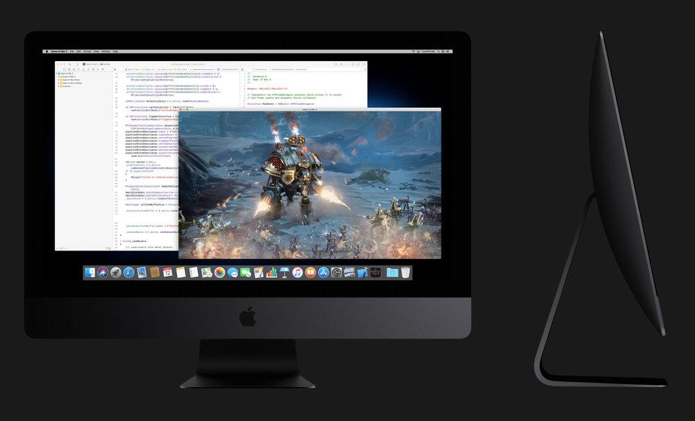 it's hard to resist the beautiful grey iMac Pro