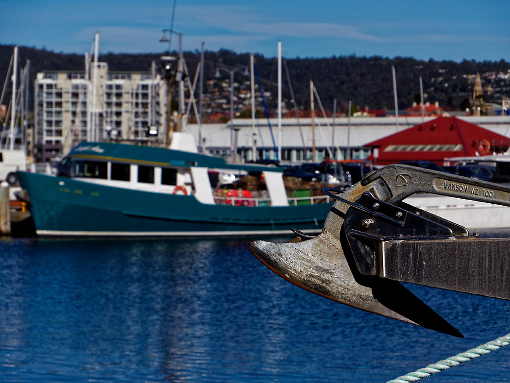 Victoria Dock, Hobart.  60mm focal length, wide open. You CAN get some isolation but its not the strongest point of this lens