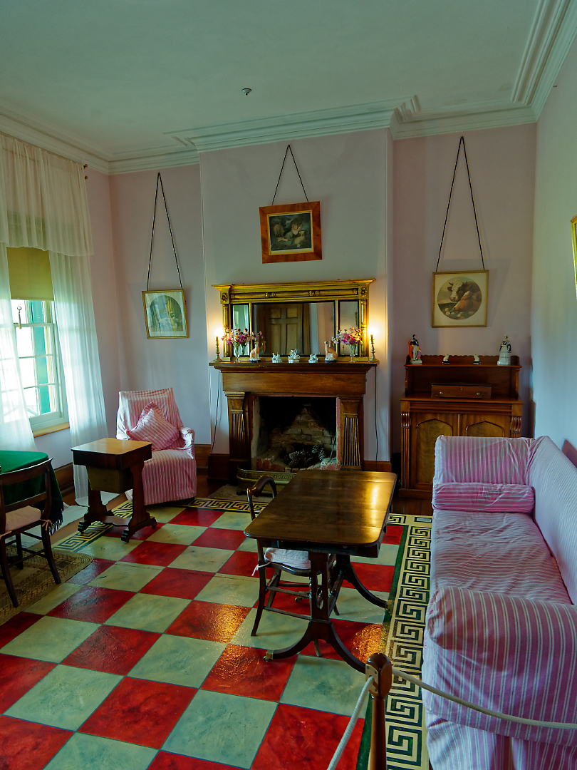The surprisingly bright and cheerful sitting room in the Junior Medical Officer's quarters, Port Arthur. Here again i was thankful for the 12mm focal length rather than the more usual 14mm