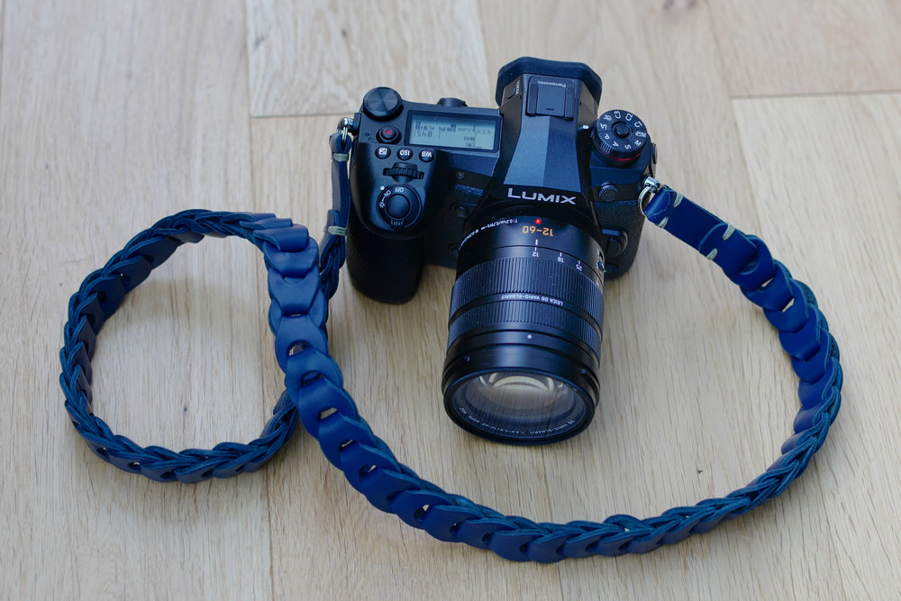 Our new G9 wearing the Leica DG 12-60mm Vario-Elmarit and an    M10 model Rock 'n Roll strap in Asian Blue