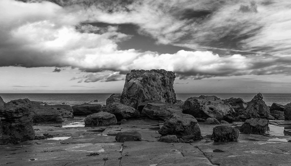 Ravenscar, Leica X, converted to B&W in Lightroom 5