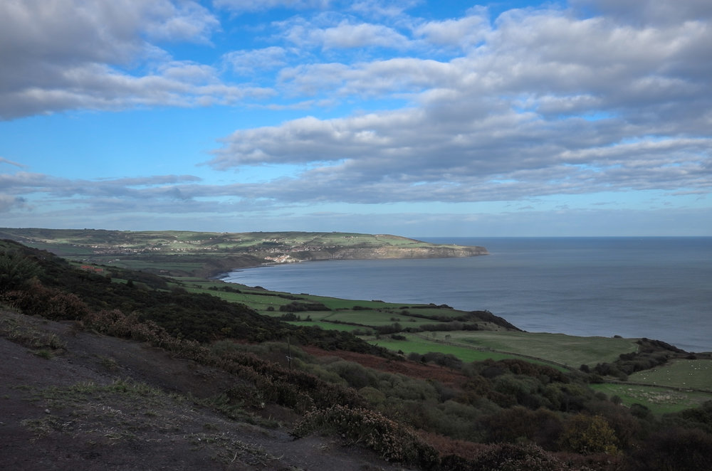 View towards Robin Hoods Bay from the Cinder Track