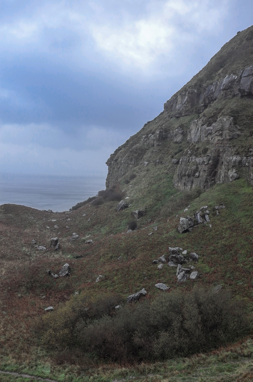 The descent to Ravenscar rocks and beach