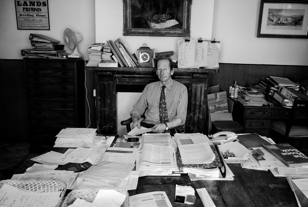 Owner Andrew Parr in his office