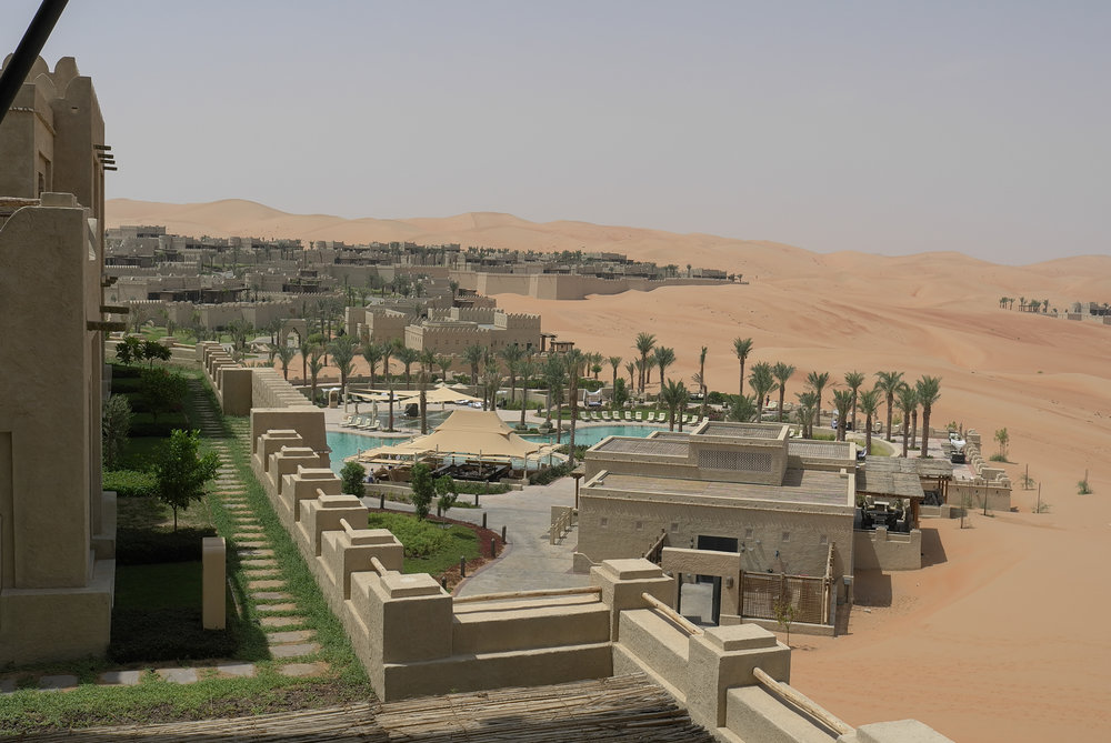 Outside the Qasr al Sarab hotel