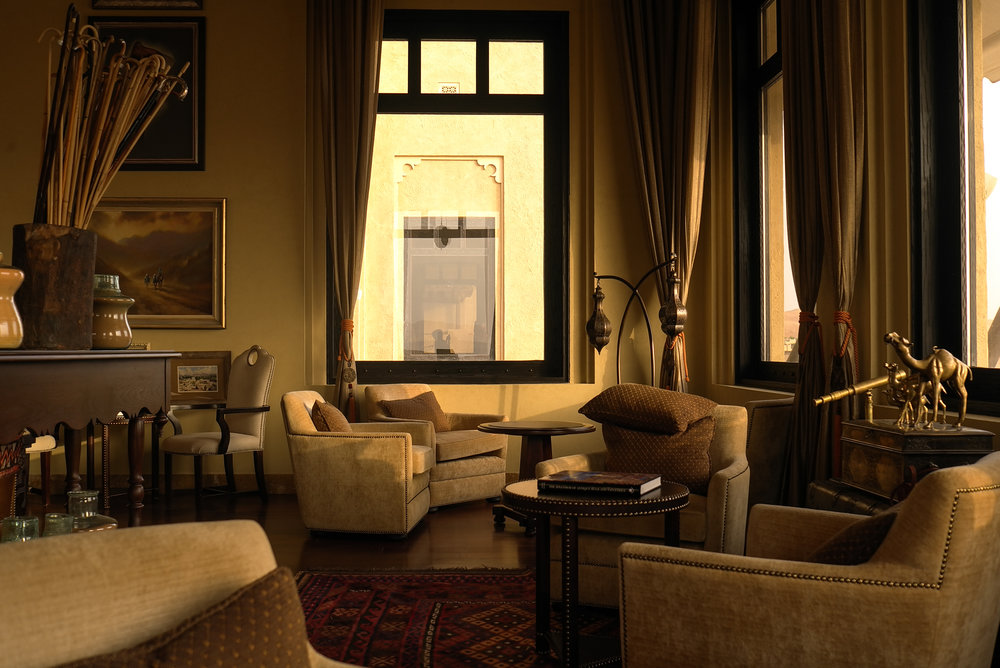 Coffee lounge in the Qasr al Sarab hotel