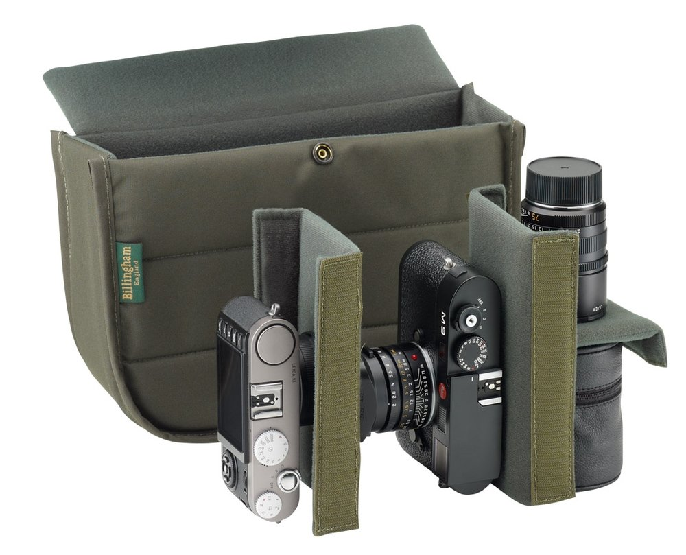 "The padded interior ""bucket"" can be configured for one or two mirrorless cameras and a coupole of spare lenses — or a small camera and a consignment of comestibles from Pret a Manger"