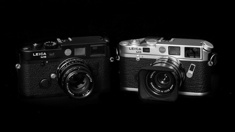 My M6 duo — the new TTL on the left, the older classic M6 on the right