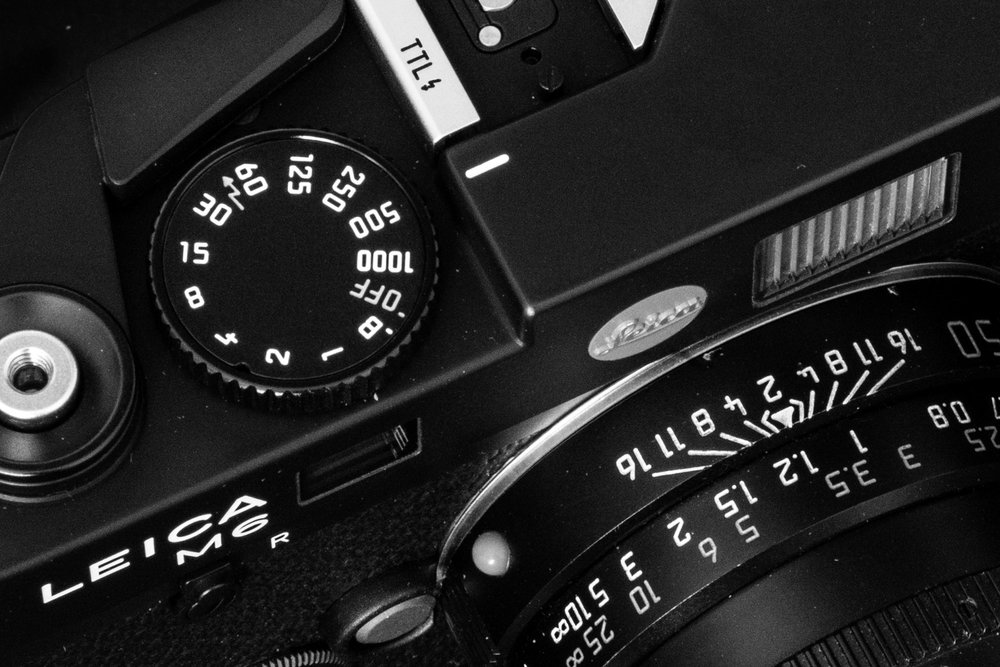 """The larger, more finger-friendly shutter dial incorporates a battery-preserving """"off"""" setting and moves in opposite way to that on the M6 Classic and earlier cameras — a big improvement"""