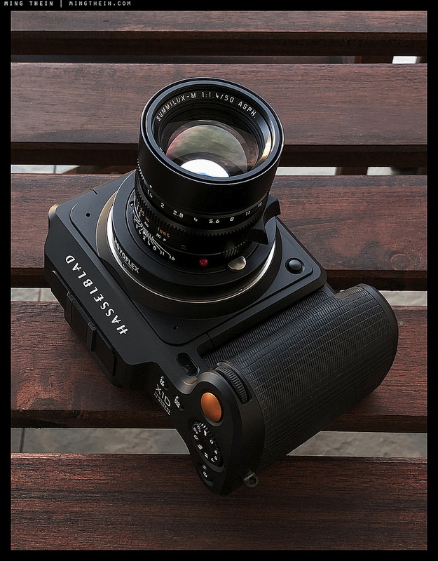 Hasselblad X1D with the Leica f/1.4 Summilux ASPH (Image courtesy of Ming Thein)