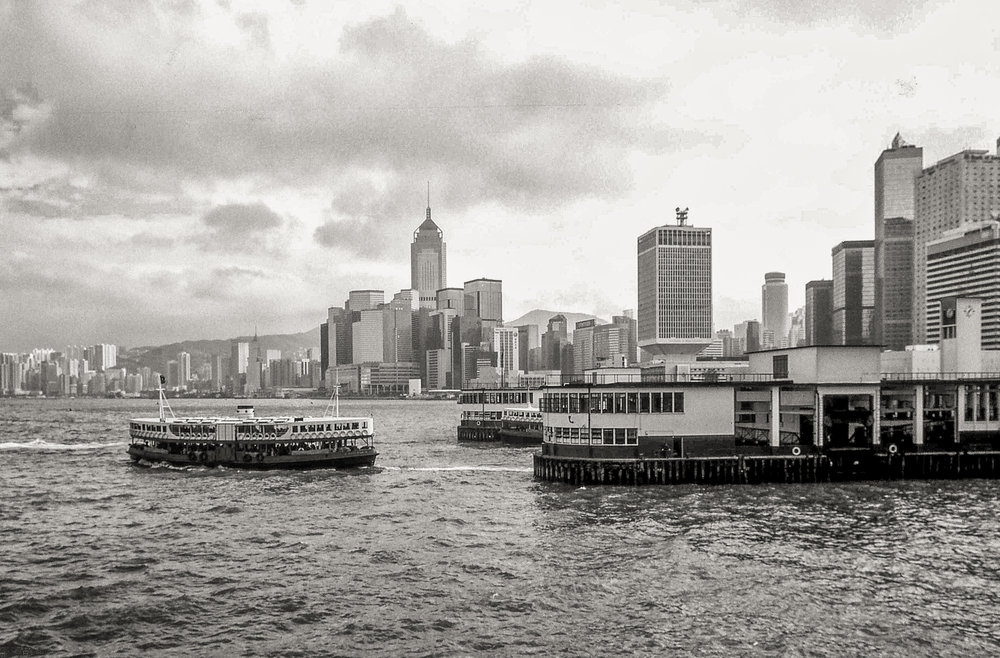 The harbour in 1990. Image John Shingleton, Leica M6
