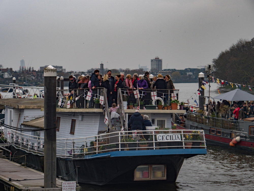 Anticipation: The owners of all the house boats along the route invite every known friend and relative to sample the dull day's festivities (Imagine Panasonic Lumix G9)
