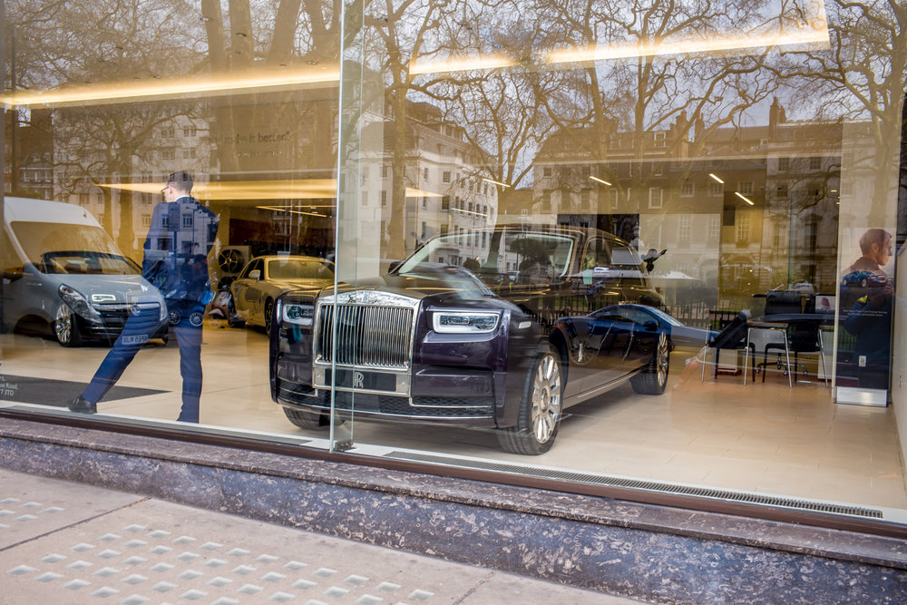 High roller — what else would you expect to buy on impulse when window shopping in Berkeley Square?