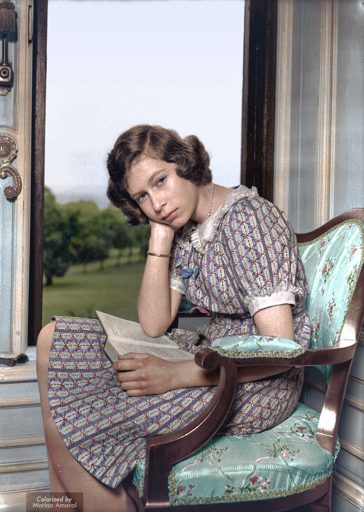 One of my favourites from the collection: Princess Elizabeth, later Queen Elizabeth II, around 1940 (image Marina Amaral)