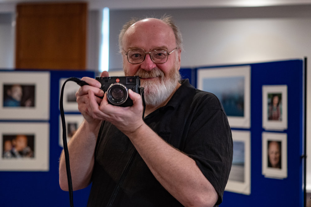 Derek Wells trying the M10 and Voigtländer. Derek did a magnificent job looking after the projection and other technical equipment during the weekend. Image Leica CL and 35mm Summilux-TL (Mike Evans)