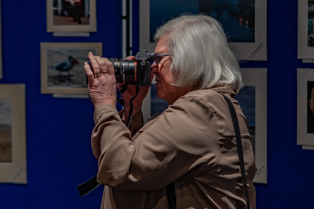 Carol Cheetham, using her Sony A7 Mk II with a Leica 35-70mm R lens. Carol is a member of TLS Circle 3 which specialises in large colour prints. (Image Leica CL and 35mm Summilux-TL)
