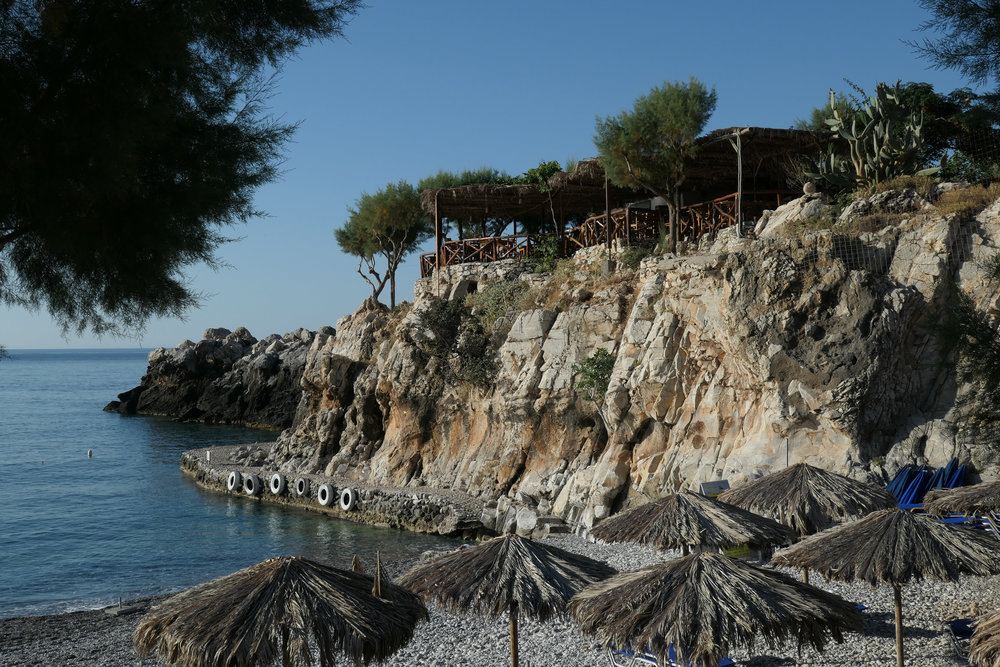 Marmara Beach and Taverna (time for breakfast!) *ISO 125 1/800th f6.3 43mm Leica C-Lux)