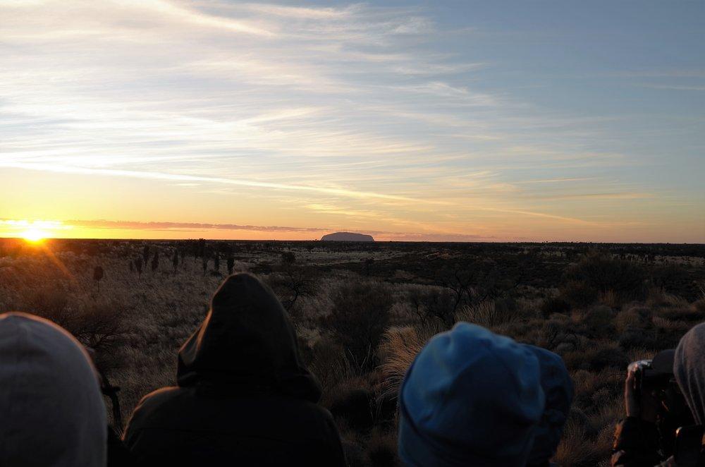 Looking back towards Uluru, 40km away