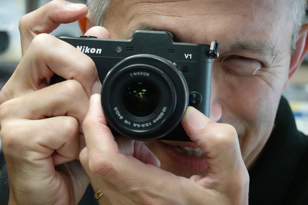 The Nikon 1 system is still sought after among photographers who recognise its many virtues, including fast autofocus even among today's contenders. Introduced in 2011, this V1 with 10-30mm standard zoom (equivalent to 27-80mm) makes a very competent travel camera