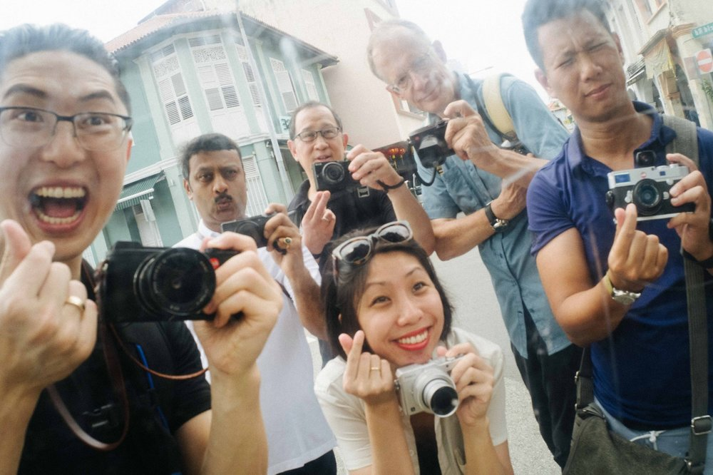 Eric Kim, far left with the big smile and the Leica CL during his Singapore workshop. As always, he is the life and soul of the event and manages to make everyone feel welcome. If you don't have more confidence after the Eric treatment you never will.....