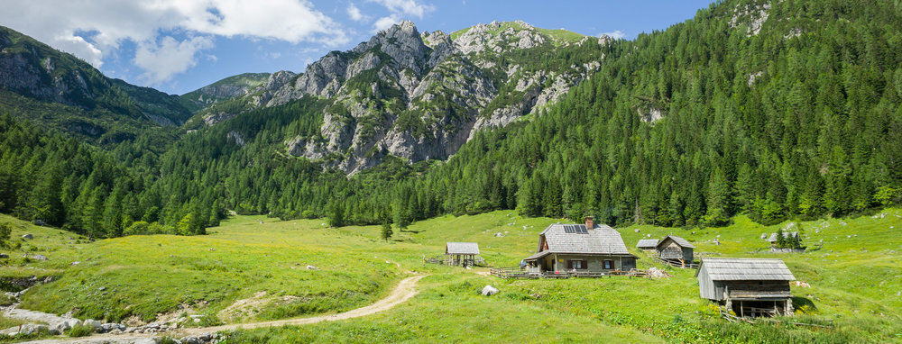 Konjščica mountain cafe in Triglav National Park, Slovenia.
