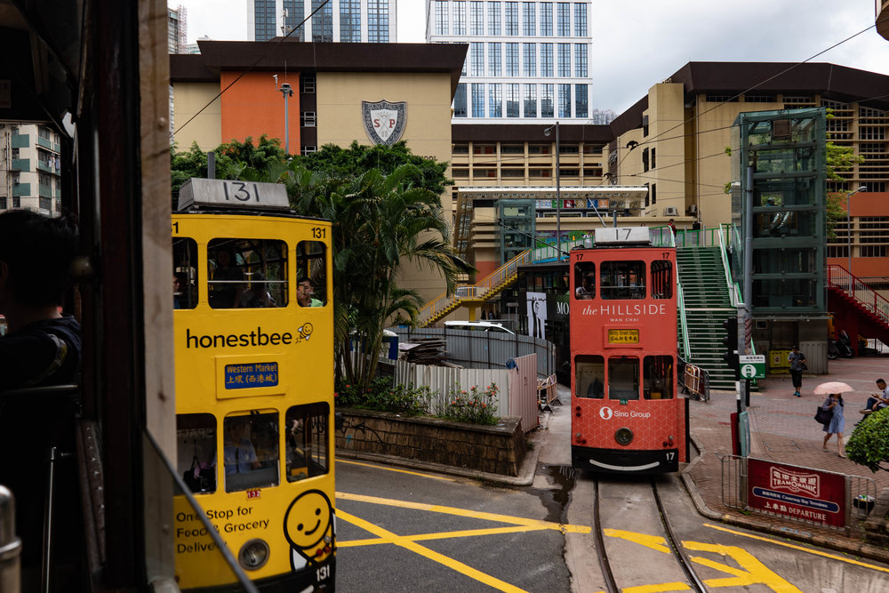 Tramstalgia: On the Hong Kong ding ding with the Leica CL and 18mm Elmarit